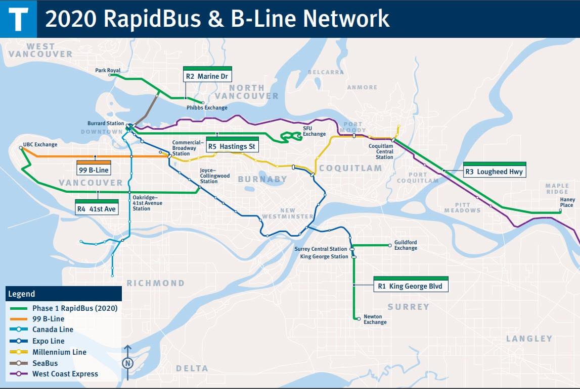 B Line Subway Map.Bus Train Skytrain City Of Pitt Meadows