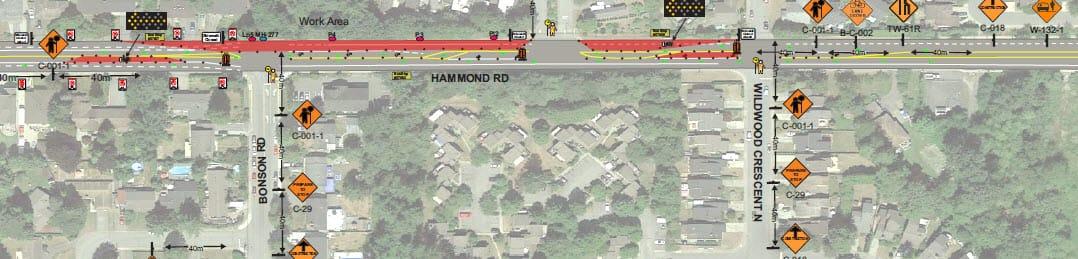 Hammond Rd - Fibre Optics Work, March 22   City of Pitt Meadows